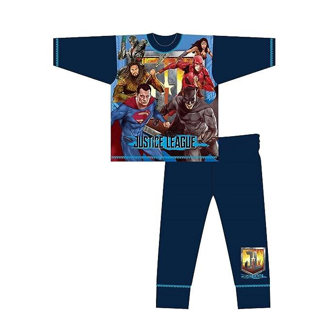 DC Comics - Pijama Infantil de Manga Larga de la Liga de la Justicia (5