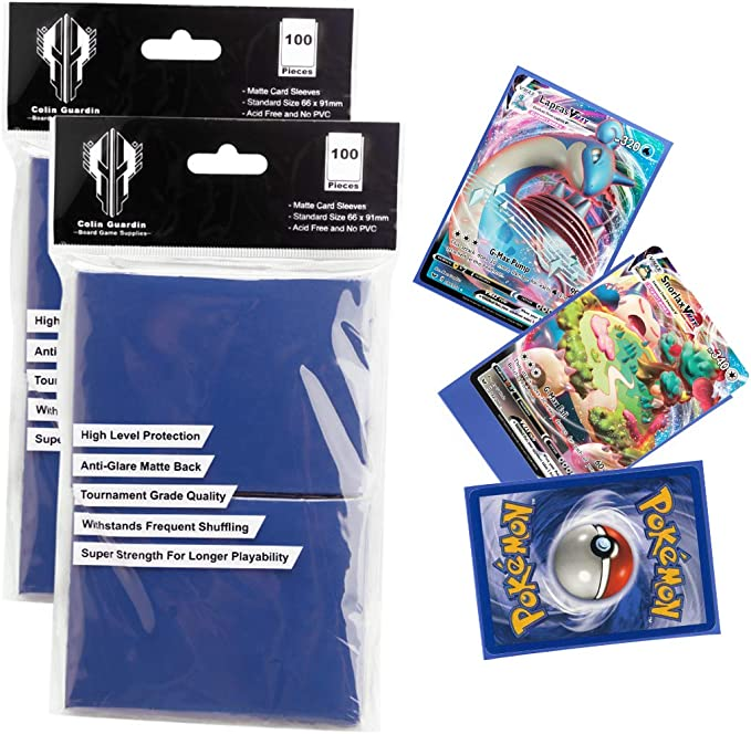 CheckOutStore Protective Sleeves for Trading Cards Matte White 66 x 91 mm 100