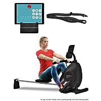 Sportstech Rudergerät RSX400 mit Smartphone APP, Pulsgurt inkl. - Rudermaschine für Ihr Zuhause, klappbar mit 8fach einstellbarem Magnetwiderstand und kugelgelagertem Sitz