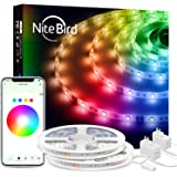 NITEBIRD Smart LED Strip Lights, App Remote Control Light Strips,16 Million RGB Color, Music Sync, for Bedroom Kitchen…