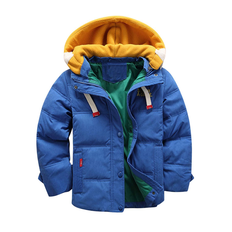 De feuilles Kids Toddler Boys Winter Coat Hooded Warm Padded Coat Windproof Parka Jacket
