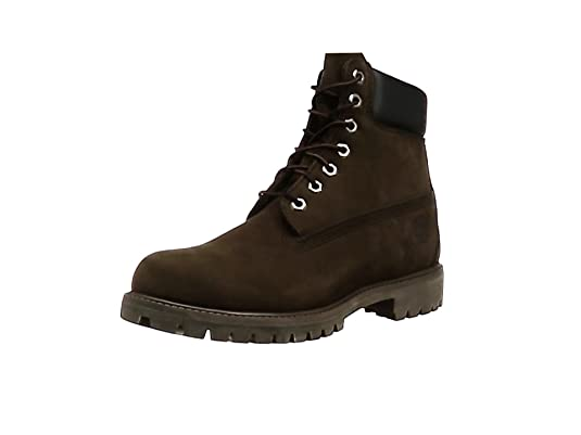 Alto 6 Chocolate Marrone Timberland Nubuck Collo Premium A Uomo dark In Scarpe xqFgCwYd