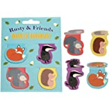 dotcomgiftshop Set Of 4 Rusty And Friends Magnetic Bookmarks