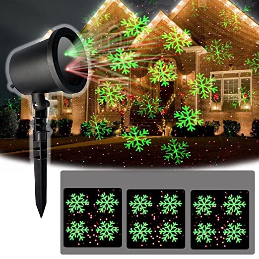 Christmas Projector Lights.Christmas Projector Lights Outside Xmas Lights Snow Red Spots Spread Pattern Outdoor Waterproof Xmas Projector Lighting For Garden Yard Lawn Party