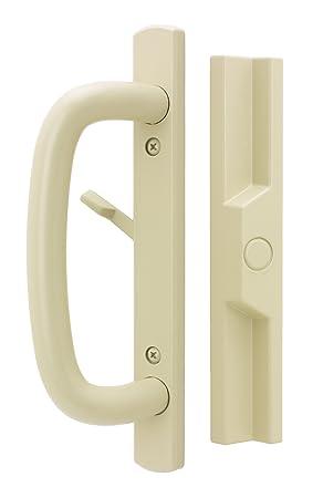 "Wood//Black Non-Keyed Internal Lock Sliding Glass Door Handle Set with 3-15//16/"""