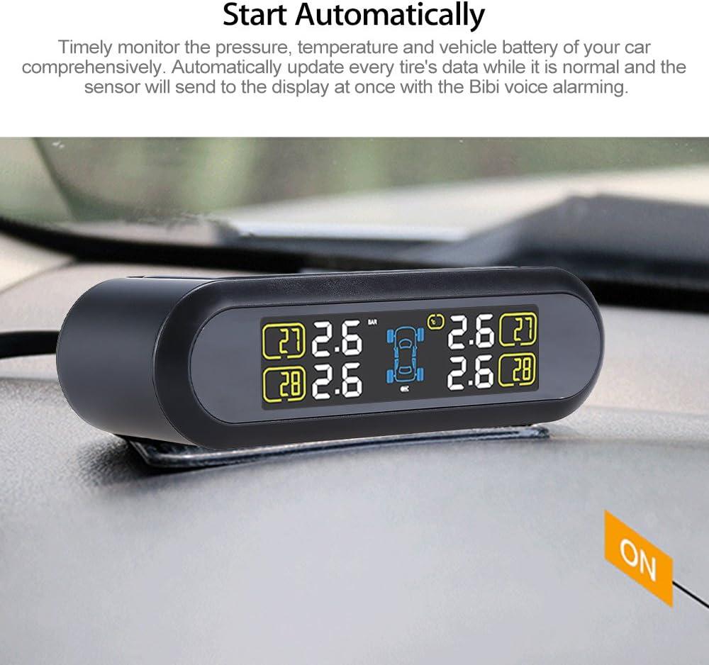 TPM Reifendruck-Monitor-System mit 4 externen Sensoren Uphig Solar-LCD-Bildschirm