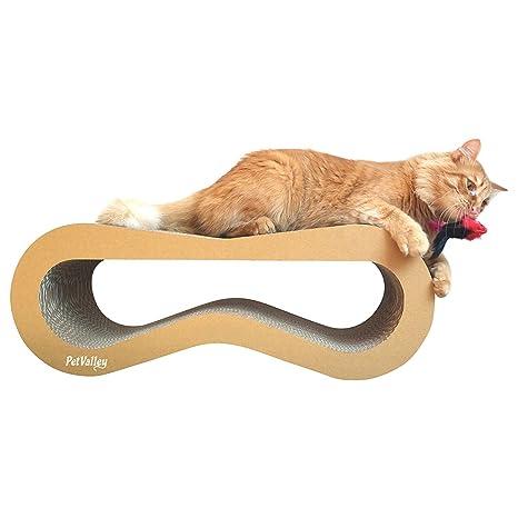 PetValley Arañador para gatos, producto de diseño, de cartón ondulado, fabricado en Italia