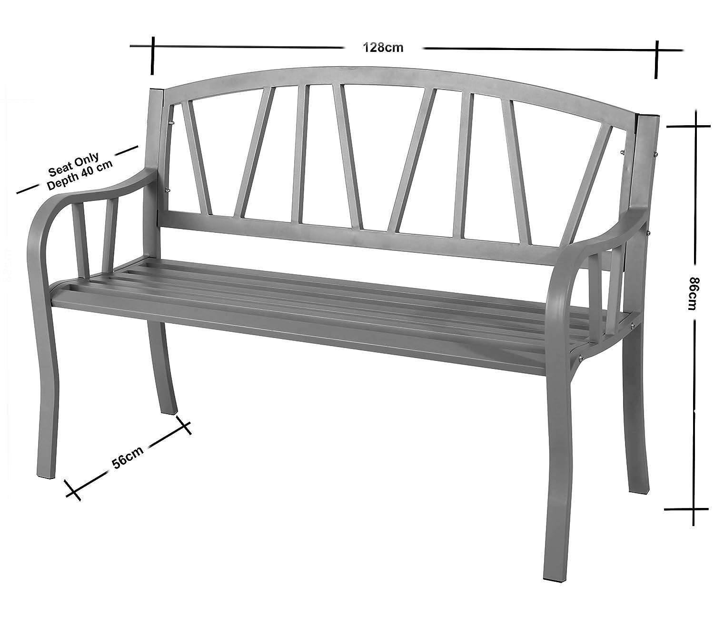 Banc de jardin 3/places en acier r/ésistant aux intemp/éries