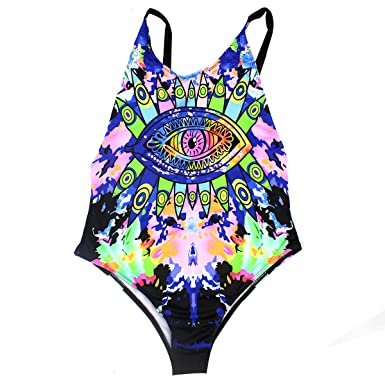 cb2f681119e6 Womens Rave Wear Neon One Piece Bodysuit Sexy Swimsuit New 2019 EDC  Festival Rave Clothing