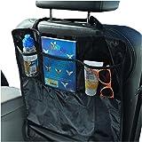 Sidekick - Tappetino protettore contro i calci del sedile dell'auto - 2 pezzi - Mantenere la parte posteriore dei sedili della tua automobile pulita dai piedi sporchi dei bambini - Completo di comode tasche organizer.