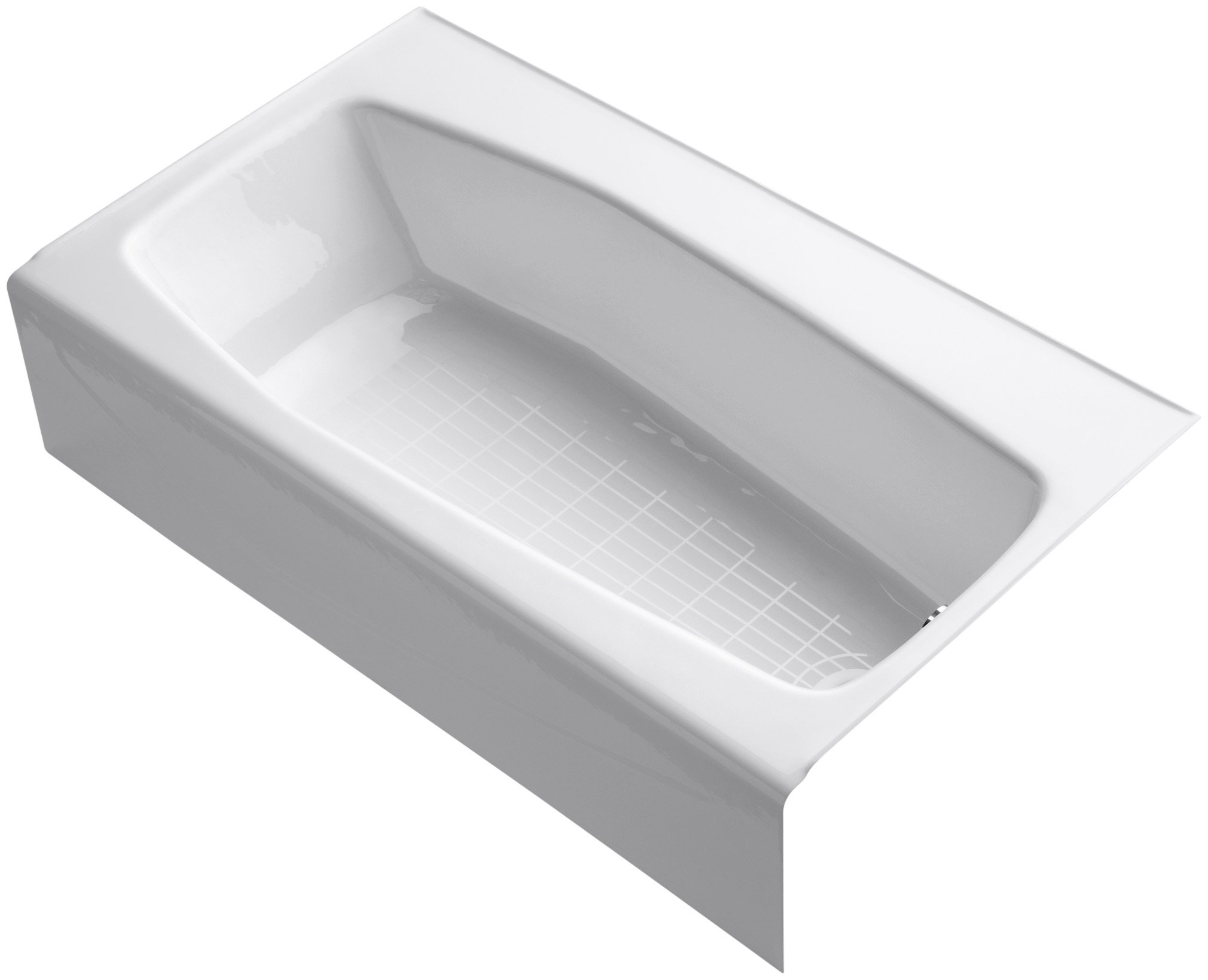 KOHLER K-714-0 Villager Bath with 4-Inch Ledge and Right-Hand Drain, White