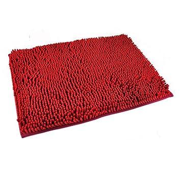 generic washable bathroom new shaggy rugs non slip bath mat thick shag pile 6 colours