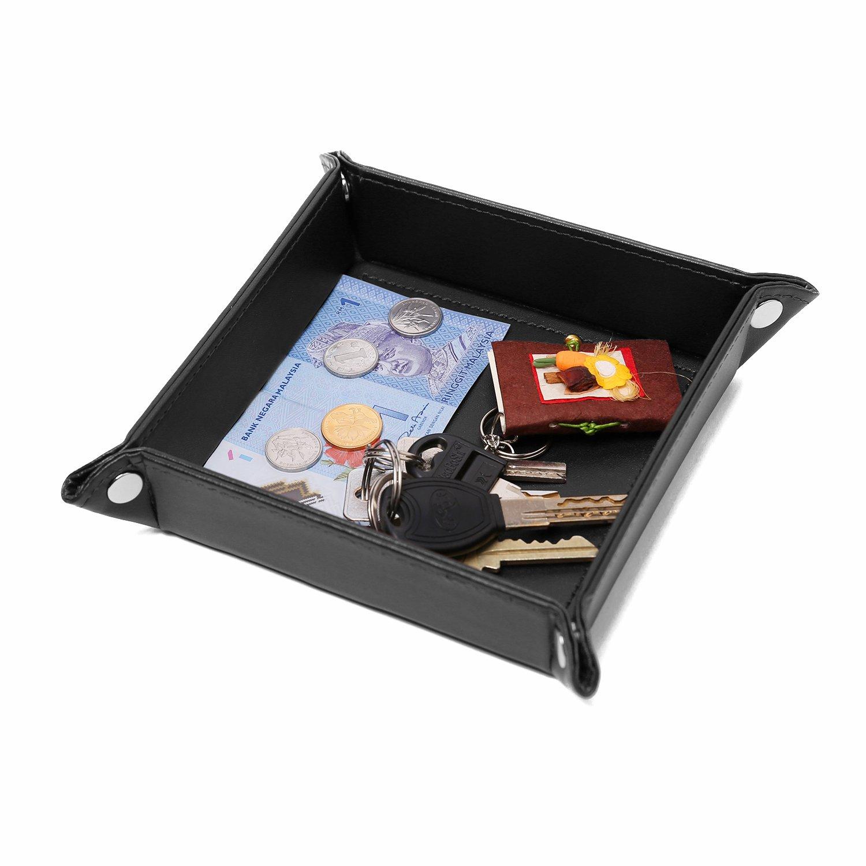Uworth Taschenleerer Organizer Kunstleder für Handy, Geldbörse, Schlüssel Braun Geldbörse Schlüssel Braun TRAY321