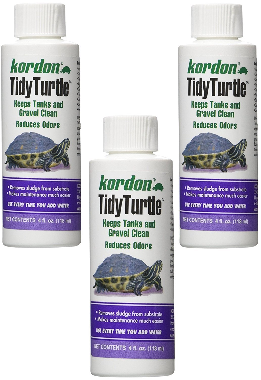 KORDON Tidy Turtle Water Quality Control for Aquariums, 4-Ounce (3 Pack)