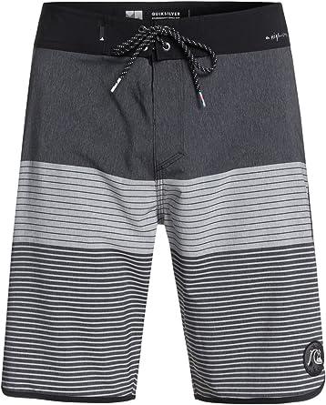 Quiksilver Stripes Scallops 20 Boardshorts Shorts Sz 32 Surf New Men Skate