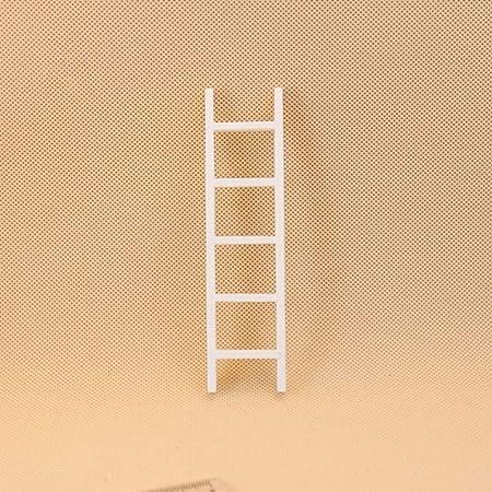 FairOnly - Mini Escalera de Madera Blanca para casa de muñecas 1:12: Amazon.es: Hogar