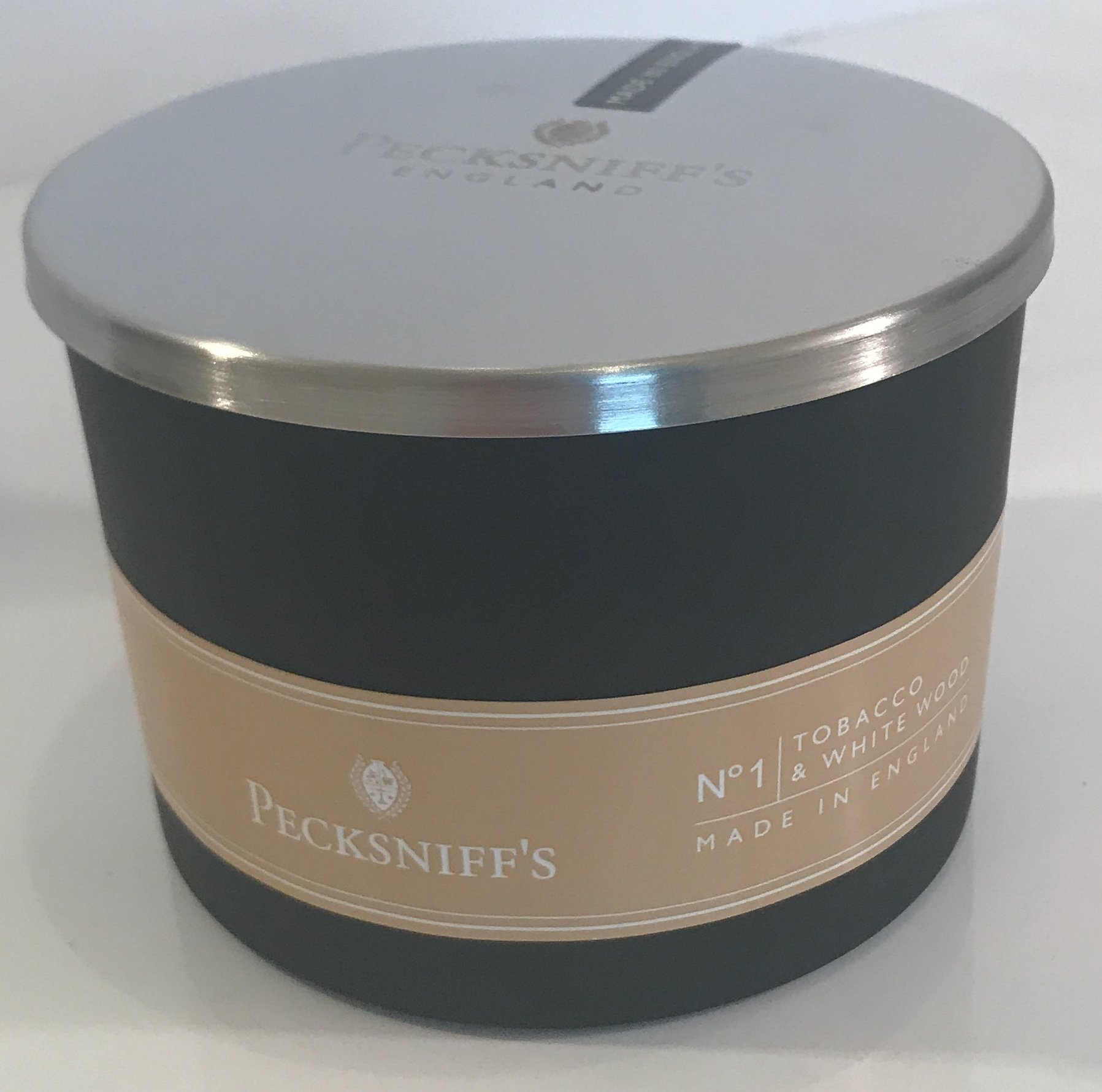 Pecksniffs 8.8OZ 3 Wick Candle - Tobacco & White Woods
