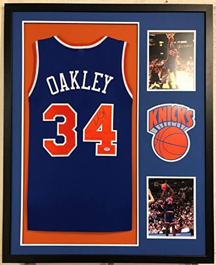size 40 cfcd4 6aa7c Charles Oakley Autographed Signed Custom Framed New York ...