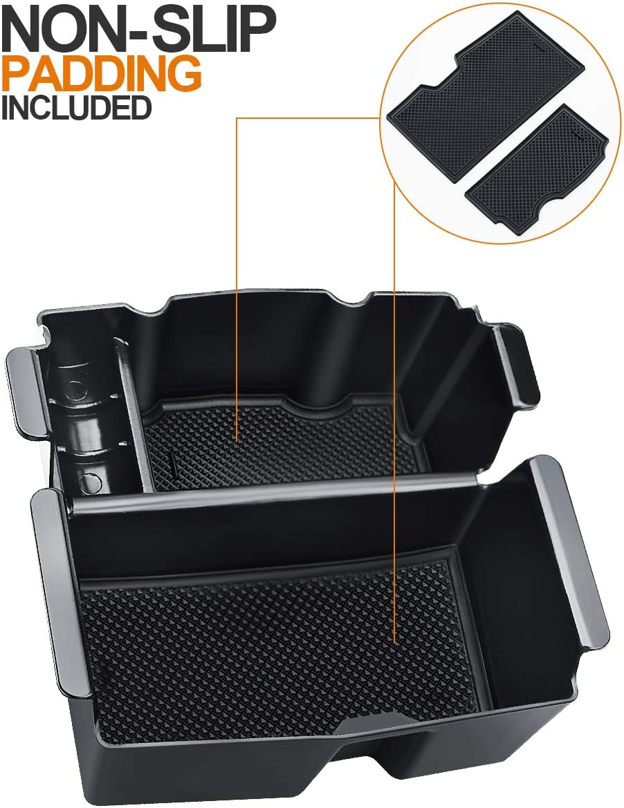 Jeep Gladiator Truck Black Organizer Tray Armrest Box Secondary Storage 2020 2018-19 OrganizerTray LIBERRWAY Center Console Organizer for Jeep Wrangler JL//JLU