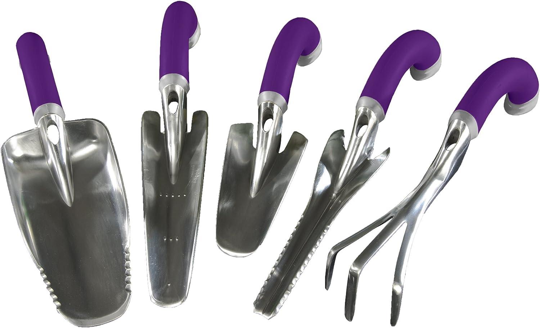 Radius Garden, NRG5SETPurple, NRG5SETPurple Ergonomic Garden Hand Tool Set, Purple