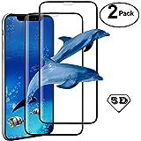 【2 paquetes】Mica iPhone X / iPhone XS Protector de pantalla, ivencase Premium Pantalla completa Cobertura Cristal…