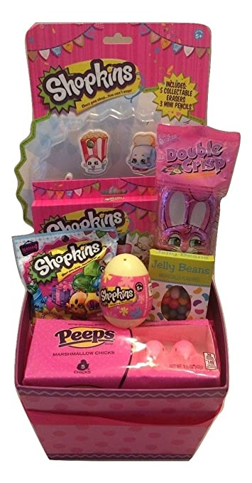 Amazon shopkins easter gift basket season 4 easter egg shopkins easter gift basket season 4 easter egg mystery shopping cart toy eraser negle Image collections
