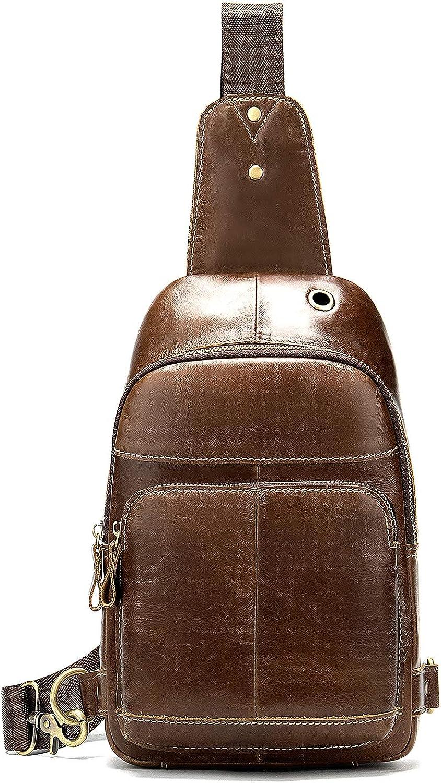 NIUCUNZH Leather Sling Bag Crossbody Bag