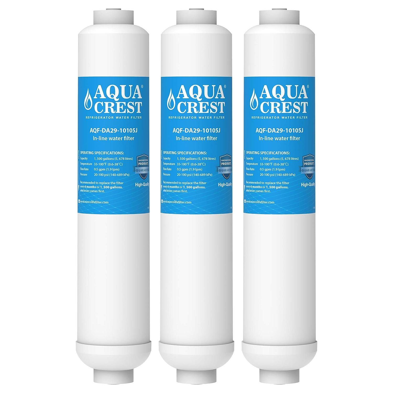 3x Samsung Aqua-Pure Plus DA29-10105J, DA2010CB, HAFEX/EXP, DA29-10105C, K32010CB, DA99 02131B, WSF-100, EF9603 External Fridge Water Filter by AQUACREST AQUA CREST AQF-DA29-10105J-3