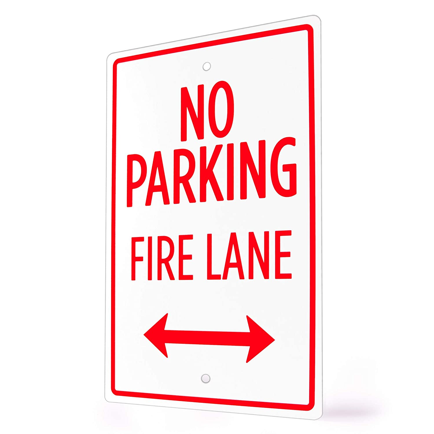 3-Pack Businesses - 18 x 12 Aluminum Warning Sign for Parking Lots Private Driveways Customer Parking Only Sign