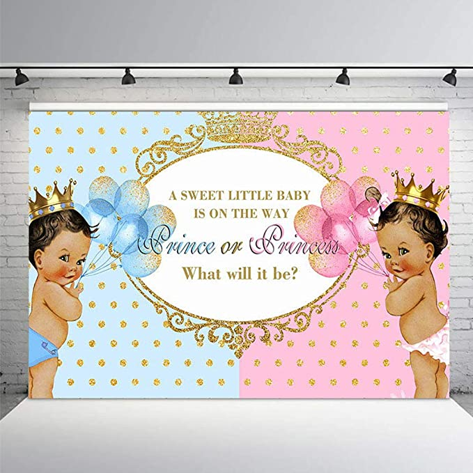 Welcome to Baby Shower Backdrop Royal Crown Elliptic Circle Checked Black Background 8x6ft Vinyl Photography Backdrops Gender Reveal Party Banner Photo Studio Props