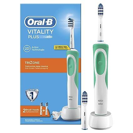Oral-B Vitality Plus TriZone Cepillo de Dientes Eléctrico Recargable Con  Tecnología Braun 80e589f76144