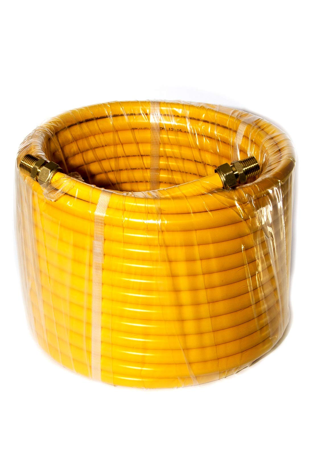 GASFLEX Gas Flex 1/2'' Tubing Pipe KIT 66ft with 2 Fittings by GASFLEX