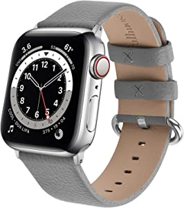 Fullmosa Watchband Compatible for Apple Leather Watch Band 38mm 40mm 42mm 44mm Stainless Steel Silver Buckle Women Men, Replacement Wristbands Strap for iWatch Series6/SE/ 5/4/3/ 2/1, Edition, Sport Straps