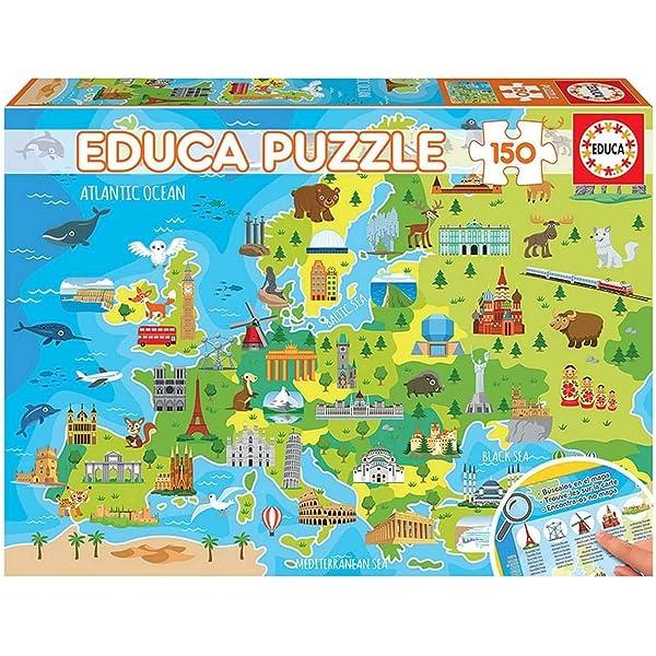 Educa- Provincias España Puzzle infantil de 150 piezas, a partir de 6 años (14870): Amazon.es: Juguetes y juegos