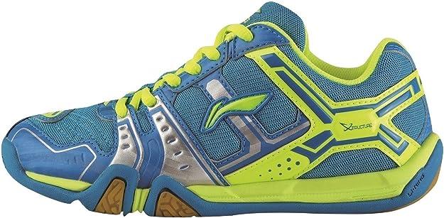 Li Ning - Zapatillas de bádminton para niño Verde Azul: Amazon.es: Zapatos y complementos