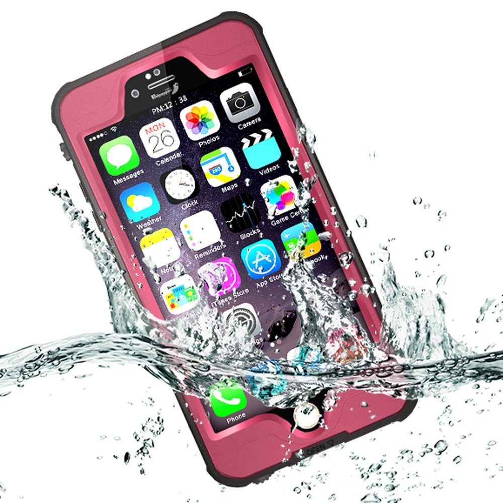 Amazon.com: iPhone 6 Plus Waterproof Case, iPhone 6s Plus Waterproof Case Comsoon Slim Full Sealed Dirtproof Snowproof Shock-Dispersion Bumper Underwater ...