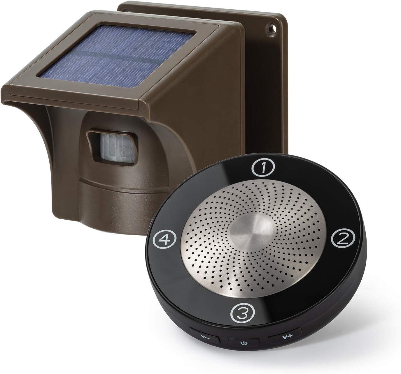 eMacros Solar-Powered Wireless Driveway Alarm