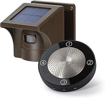 eMACROS 1/2 Mile Long Range Solar Wireless Driveway Security Alert System