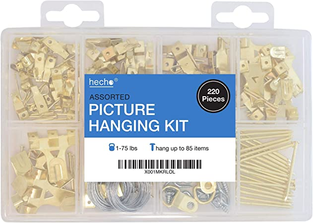 Picture Hanging Kit wire Hooks Nails Set Frame photo picture wall clock Multipur