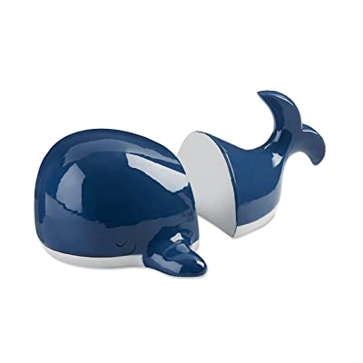 Baby Aspen Ceramic Whale Bookends | Cute Ocean Themed Kids Bedroom Décor: Baby [5Bkhe0300054]