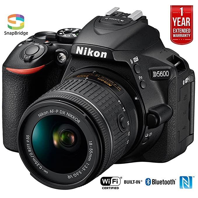 Nikon D5600 Digital SLR Camera & 18-55mm VR DX AF-P Lens