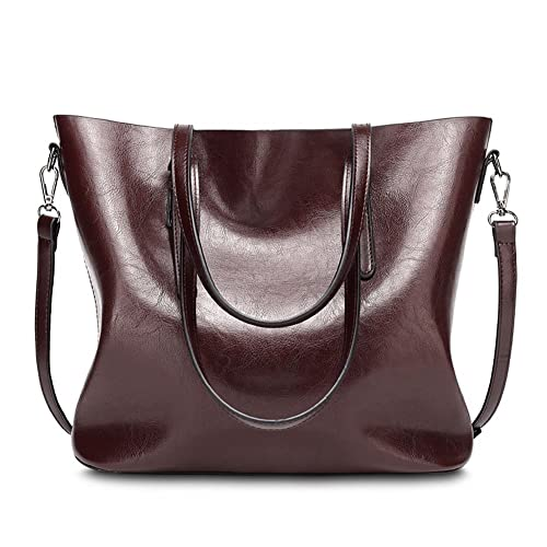 4f1ee50658d6 Amazon.com  abshoo Womens Soft Leather Purses Handbags Tote Shoulder Bags  (Dark Red)  Shoes
