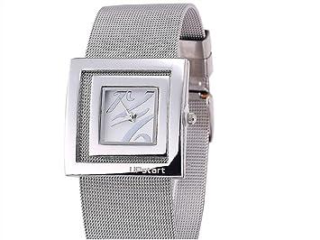 HOUHOUNNPO Reloj de Moda Reloj para Mujer Cuadrado Reloj analógico de Cuarzo Pulsera de Malla de