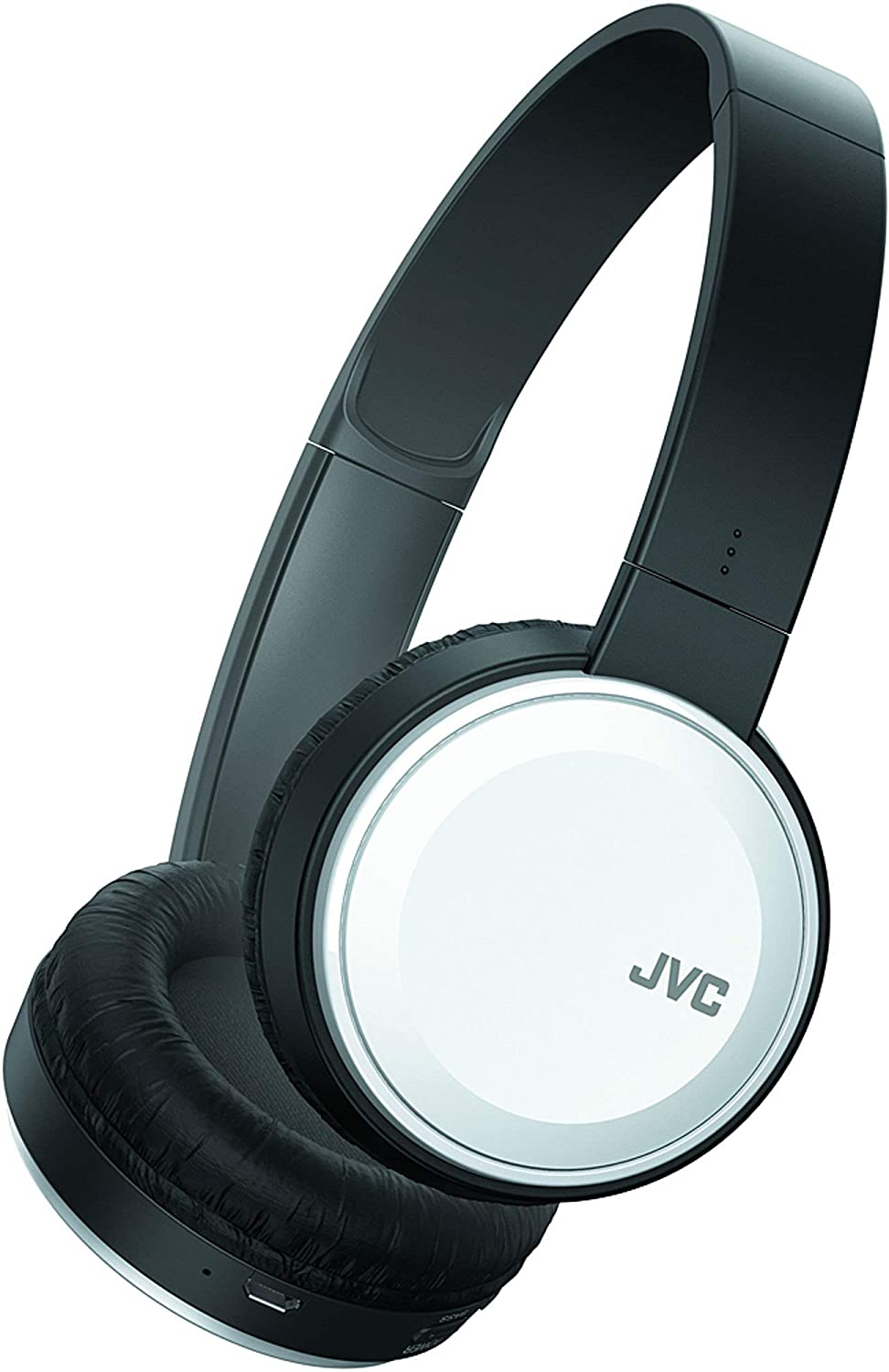 JVC Wireless Lightweight Flat Foldable On Ear Bluetooth Wireless Headband with Mic, White (HAS190BTW)