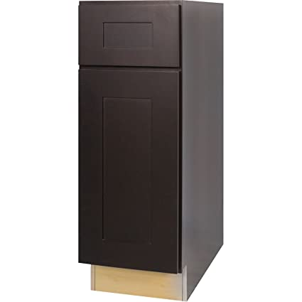 Superieur Everyday Cabinets 12 Inch Base Cabinet In Shaker Espresso With 1 Soft Close  Drawer U0026 1