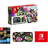 【Amazon.co.jp限定】【液晶保護フィルム多機能付き (任天堂ライセンス商品) 】Nintendo Switch スプラトゥーン2セット+QUICK POUCH COLLECTION for Nintendo Switch (splatoon2) Type-B+マイクロファイバークロス