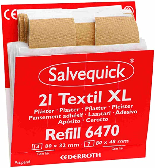 Salvequick Pflasterspender Und Refill Verschiedene Sorten Einzeln Dunkelorange Stripe Elastisch Xl Ref 6470 Drogerie Körperpflege