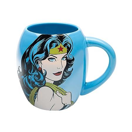 Wonder Woman Blue 18 oz Mug Amazon Kitchen & Home