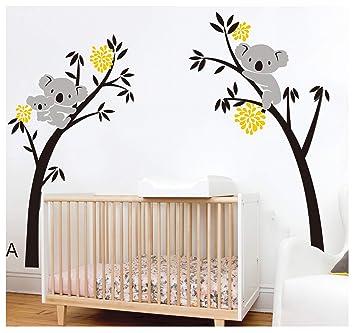 BDECOLL bebe koala stickers-Koala endormi et branche d\'arbre stickers  famille voiture-decoration maison murale-deco salon moderne-Arbre Stickers  ...