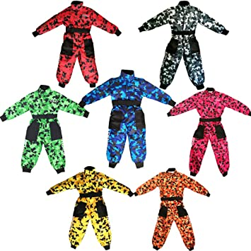 Leopard CUB Kids Motocross CAMO Suit Children Motorbike Motorcycle Race Clothing ATV Karting Suit Overall 1PC 3-4 Years Black XS
